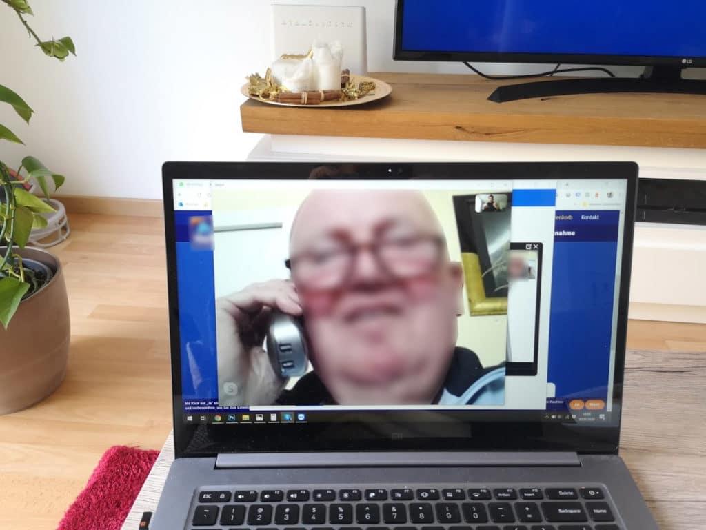 Screenshot aus dem ersten Skype-Telefonat mit meinem Opa
