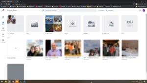 Übersicht bei Google Photos, in der man alle hinterlegten Fotos und Videos sehen kann.